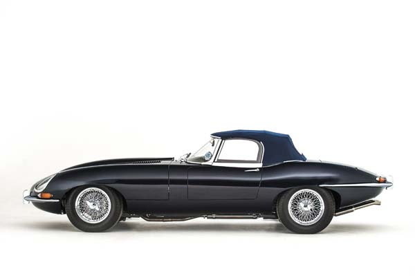 1965 Jaguar Series 1 E Type XKE 4.2 Litre Drop Head Coupe Roadster in Dark Blue 0001